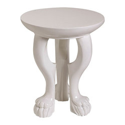 White Lola Accent Table