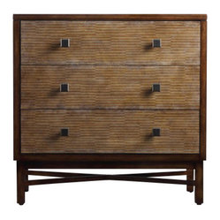 Hooker Furniture - Ashton Chest - Simply striking with unusual details, this poplar chest is perfect for your down-to-earth modern decor. Bamboo veneers and square metal hardware add interest to an otherwise rustic, unfussy piece.