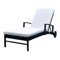 ELB Outdoor - ELB Outdoor Torino Wicker Chaise Lounge - Torino wicker chaise lounge from ELB Outdoor. Luxurious and comfortable design with four inch cushions.