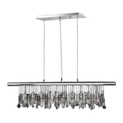 Worldwide Lighting - Nadia 10 light Chrome Finish with Clear Crystal Pendant - This stunning 10-light crystal chandelier only uses the best quality material and workmanship ensuring a beautiful heirloom quality piece. Featuring a radiant chrome finish and finely cut premium grade clear crystals with a lead content of 30%, this elegant chandelier will give any room sparkle and glamour. Worldwide Lighting Corporation is a premier designer manufacturer and direct importer of fine quality chandeliers, surface mounts, and sconces for your home at a reasonable price. You will find unmatched quality and artistry in every luminaire we manufacture.