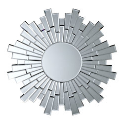 "LexMod - Linked Wall Mirror in Silver - Linked Wall Mirror in Silver - Graduate levels at each progressive step with the Linked Wall Mirror. The piece averts your glance from the centered mirror to stages of ascendancy. Linked is a charged and energetic mirror that develops momentum while keeping you focused on your inner beauty and charm. Beveled edges. Set Includes: One - Linked Wall Mirror Mulitple Reflective Surfaces, Beveled Edges, Silvered Glass Construction Overall Product Dimensions: 31.5""L x 31.5""W x 1""H - Mid Century Modern Furniture."