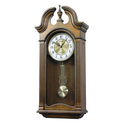 Rhythm - WSM Tiara II Wooden Musical Clock - The traditional look of the Tiara II is complimented by the two beautiful arches that crown the clock