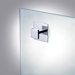 Windisch - Suction Pad Robe or Towel Hook in Chrome, Gold - Contemporary stye suction pad hook. Available in 2 finishes. This hook is ONLY able to mount to glass surfaces. It will not hold up on tile, drywall, etc.