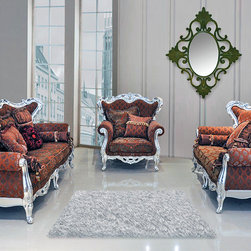 Sophie Luxury Living Room Sofa Set -