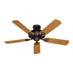 "Hunter Fan Company - 52"" Mariner Bronze Outdoor Fan - The Mariner - 52"" New Bronze ETL Wet Ceiling Fan - ETL Wet listed for use in covered and uncovered applications; Five Medium Oak plastic blades; WhisperWind motor; two position mounting system  This item cannot be shipped to APO/FPO addresses. Please"