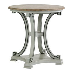 Stanley Furniture - Preserve-Myrtle Lamp Table - Graceful curves combined with soft hues are cultured and exquisite, always practical.
