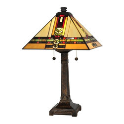 Dale Tiffany - New Dale Tiffany Lamp Fieldstone Mission - Product Details