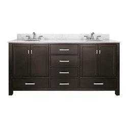 "72"" Toscana Double Sink Vanity - Espresso -"