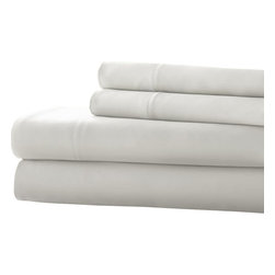 Mandalay Bay  Silky Smooth 100% Tencel Sheet Set Queen White - Stay dry and comfortable all night long with these 100-percent Tencel sheets, able to absorb moisture 50-percent better than cotton. The soft, silky-smooth material of these sheets provides you with a great night's sleep.