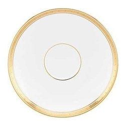 kate spade new york - kate spade new york Oxford Place Saucer - Grace and luxury radiates from our Oxford Place Saucer by kate spade new york. White fine bone china decorated with bands of shimmering gold give the saucer a sophisticated and stylish look.