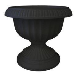 Bloem - Bloem 12in Grecian Urn Black GU12-00 - Durability and economy of polypropylene
