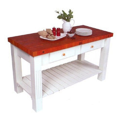 John Boos Grazzi Cherry Kitchen Island Table -