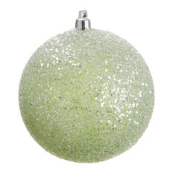 Silk Plants Direct - Silk Plants Direct Glitter Ball Ornament (Pack of 4) - Green - Silk Plants Direct specializes in manufacturing, design and supply of the most life-like, premium quality artificial plants, trees, flowers, arrangements, topiaries and containers for home, office and commercial use. Our Glitter Ball Ornament includes the following: