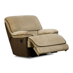Chelsea Home - Dogwood Rocker Recliner - RhiN muse with lying EY chocolate cover. Seating comfort: Medium. Kiln-dried hardwood frame. Stress points are reinforced with blocks to secure long lasting frame. Attached seat and back cushions. 8-gauge flat sinuous springs. 1.8 density, 28 - 30 lbs. PSI cushion compression. Made from 100% polyurethane. Made in USA. No assembly required. 42 in. L x 42 in. W x 42 in. H (125 lbs.)