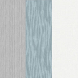 Graham & Brown - Java Stripe Wallpaper - One of our best selling textured striped wallpaper designs, a bold thick stripe design with a relatively heavy texture that will add some real warmth to your room, this sky blue design is subtle an understated making it very easy to live with.