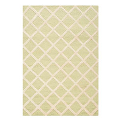 Safavieh - Ackerman Hand Tufted Rug, Light Green / Ivory 4' X 6' - Construction Method: Hand Tufted. Country of Origin: India. Care Instructions: Vacuum Regularly To Prevent Dust And Crumbs From Settling Into The Roots Of The Fibers. Avoid Direct And Continuous Exposure To Sunlight. Use Rug Protectors Under The Legs Of Heavy Furniture To Avoid Flattening Piles. Do Not Pull Loose Ends; Clip Them With Scissors To Remove. Turn Carpet Occasionally To Equalize Wear. Remove Spills Immediately. Bring classic style to your bedroom, living room, or home office with a richly-dimensional Safavieh Cambridge Rug. Artfully hand-tufted, these plush wool area rugs are crafted with plush and loop textures to highlight timeless motifs updated for today's homes in fashion colors.