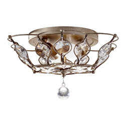 Murray Feiss - Murray Feiss FM374BUS Leila Transitional Flush Mount Ceiling Light - Murray Feiss FM374BUS Leila Transitional Flush Mount Ceiling Light
