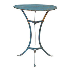 Iron Cafe Table - I love this little French cafe table. It would be perfect in a breakfast nook or a small patio or porch.