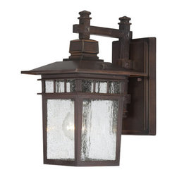 Nuvo Lighting - Nuvo Lighting 60/4952 Cove Neck Single-Light Wall Lantern, Finished in Rustic Br - Nuvo Lighting 60/4952 Cove Neck Single-Light Wall Lantern, Finished in Rustic Bronze with Clear Seed Glass PanelsNuvo Lighting 60/4952 Features: