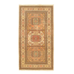 """Torabi Rugs - Hand-knotted Antique Anatolian Beige Wool Rug 3'2"""" x 6'0"""" - Rare and stunning hand knotted Anatolian rug circa 1950's. The Anatolian rug offers an insight into the highly skilled artisan weavers of this famous rug producing region. Fine wools, natural dyes with rich tones and extraordinary traditional patterns,  evoke the timeless style of these old-world artisans."""