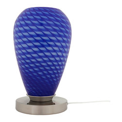 Art-Win Lighting - 8251A Table Lamp, Blue - 8251A Handmade Glass Table Lamp. Hand-crafted item is produced in Europe with care. Fine handmade contemporary lighting fixtures that require years of experience and specialized craftsmanship are carefully manufactured by Art-Win Lighting in its own plants.