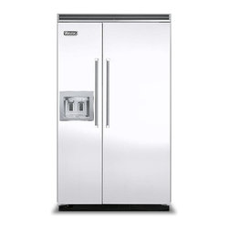 """Viking 48"""" Built-in Side By Side Refrigerator, White 