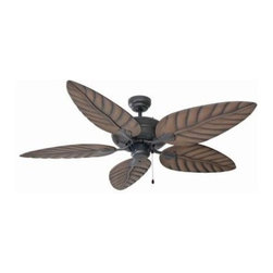 Design House - Outdoor Ceiling Fan: Design House Martinique 52 in. Oil Rubbed Bronze Ceiling Fa - Shop for Lighting & Fans at The Home Depot. The attractive lines of this 52 in. Martinique Ceiling Fan are enhanced by its five chestnut finish ABS blades. It is great for traditional or modern home decor in a dry or damp location. Tri-mount adaptable this fan can be mounted with a down rod, in a close-up configuration or on a vaulted ceiling. A 3/4in. diameter by 4 in. down rod is included. It has a 3-speed pull chain control and a reversible motor for year round comfort. Beautiful, a classic and functional design.