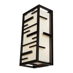 Joshua Marshal - Two Light BronzeGlass Outdoor Wall Light - Two Light BronzeGlass Outdoor Wall Light