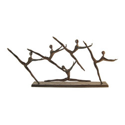 Danya B - Dancing Group Aluminum Sculpture - This elegant cast aluminum sculpture of a dancing group will delight you with its grace. Elegant, artistic and contemporary in feel and design. Handcrafted and cast using the sand casting method. Great gift for the dance aficionado.