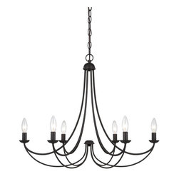 Quoizel - Quoizel MRN5006IB Mirren Transitional Chandelier - A clean design enhanced by an imperial bronze finish, Mirren is more transitional with a less formal styling.  The sweeping arms create a slim silhouette and the candelabra bulbs emit a soft light for a warm, romantic glow.  A great fit for many home design styles.