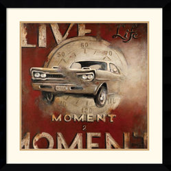 Live Life Framed Print by Janet Kruskamp
