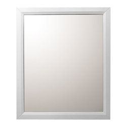 "Bellaterra Home - 30 Inch Mirror-White - A rectangular wood frame mirror, made with solid birch wood in white finish. It is warm and sophisticated to add to any bathroom. The mirror is a high quality 0.6"" thick mirror prevent rusting against bathroom humidity. All mounting hardware are included."