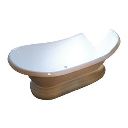 Spa World Corp - Atlantis Tubs 3471RS Reef 34x71x18 Inch Freestanding Soaker Bathtub - The Reef whirlpool series style can be interpreted as both, contemporary and classic design. Increased height of side edges brings additional support to bathers, who enjoy the deep soaking comfort. Soaking bathtubs are a more Traditional style bath tub without water or air systems. Soaking in warm water will sooth the body, boost cardiac output, lower blood pressure and improve circulation. Water also hydrates the skin and helps pores eliminate toxins. Freestanding tubs are meant to be proudly displayed rather than crowded in a corner and add character to your bathroom.