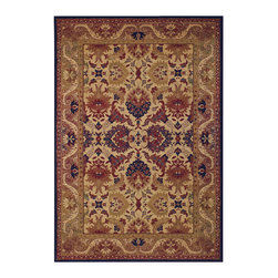 """Couristan - Anatolia Royal Plume Rug 2715/0705 - 9'8"""" x 13'1"""" - Traditional area rug designs, such as Anatolia's Persian floral motifs, are the perfect way to give formal living areas, like dining rooms, a warm, inviting feel. The deep hues of cranberry red and navy blue add a luxurious touch that is inherently elegant."""