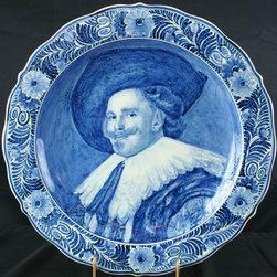 Delftse Pauw - Consigned Vintage Blue/White Delft Plate Laughing - Product Details