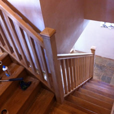 Contemporary Staircase by Heritage Doors and Floors LTD