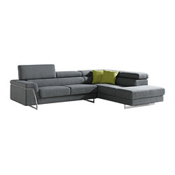 VIG Furniture - Darby - Modern Fabric Sectional Sofa Set - This is a stunning sectional that will add luxurious charm to any living space. It features a subtle color that will impress your friends and catch some eyes. Its beautiful and sturdy design will have you satisfied for years to come.