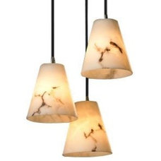 LumenAria 3 Light Cluster Cone Pendant by Justice Design