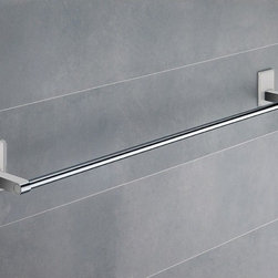 Gedy - 24 Inch White Mounting Polished Chrome Towel Bar - Modern, simple 24 inch polished chrome towel bar made of chromed brass with mounting made out of thermoplastic resins. 24 inch towel holder made of chromed brass. White mounting made of thermoplastic resins. From the Gedy Maine collection.