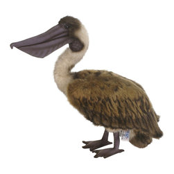 Hansa - Hansa Toys Brown Pelican - Hansa Brown Pelican Bird is handcrafted of plush. Ages 3 and up. Airbrushed for detail.