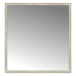"""Posters 2 Prints, LLC - 56"""" x 59"""" Libretto Antique Silver Custom Framed Mirror - 56"""" x 59"""" Custom Framed Mirror made by Posters 2 Prints. Standard glass with unrivaled selection of crafted mirror frames.  Protected with category II safety backing to keep glass fragments together should the mirror be accidentally broken.  Safe arrival guaranteed.  Made in the United States of America"""