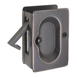 Traditional Pocket Door Pull - This pocket door lock pairs function with simple design to perfectly accent your pocket doors.