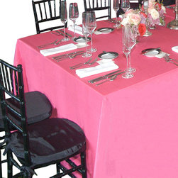 None - Rectangular Tablecloths 60 x 120 (Pack of 5) - These polyester tablecloths are easy to use and clean, and they're available in a wide variety of colors from vibrant to neutral. This pack of five reusable cloths are perfect for large parties and special events.