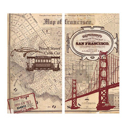 San Francisco Map Matches - The ideal complimentary gift to give with one of our luxuriously scented candles, our matches come in delightful designs to suit all tastes like these San Francisco Map Matches. A nod to the ever beautiful Northern California Bay Area, these matches remind one of chilly San Francisco nights, cable cars and stunningly colored homes lining picturesque hills.