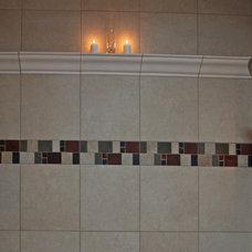 Traditional Shower Caddies by Bathroom Tile Shower Shelves