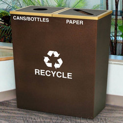 Recycling Containers For Upscale Settings - High End Recycling Bins For Upscale Settings: 5 Star Hotels, Executive Offices, VIP Meeting Rooms, Country Clubs And Homes.
