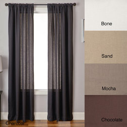None - Lucid 84-inch Rod Pocket Curtain Panel - Accentuate your windows with this contemporary curtain panel. This curtain panel provides a beautiful,sheer look for any room in your home. Made from polyester,this curtain panel mimics the appearance of linen and comes in a variety of colors.