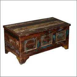 Forgotten Dreams Reclaimed Wood Standing Coffee Table Chest - Discover some old hopes and create some new memories with the Forgotten Dreams Coffee Table Chest.