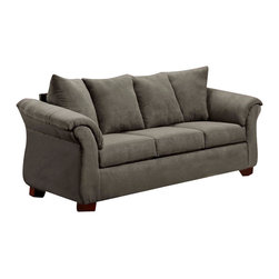 Chelsea Home Furniture - Chelsea Home Kiersten Sofa in Flatsuede Graphite - Kiersten sofa in Flat suede Graphite belongs to the Chelsea Home Furniture collection