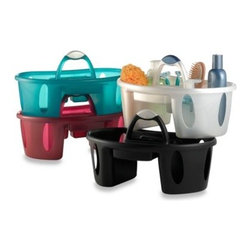 Casabella - Basket Shower Tote in Caviar - This shower tote makes dorm and apartment living a lot easier. Just pack all your shower and bathroom necessities into this portable plastic tote and take it with you every time you shower.